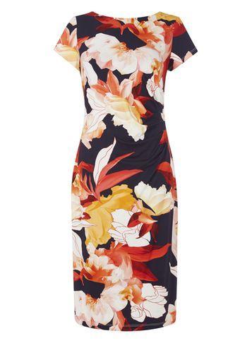 Dorothy Perkins *roman Originals Multi Colour Floral Print Dress