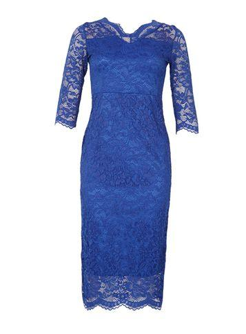 Dorothy Perkins *feverfish Royal Blue Scallop Bodycon Dress