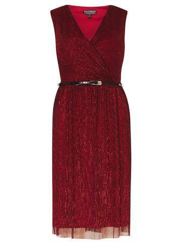 Dorothy Perkins *billie & Blossom Red Plisse Wrap Dress