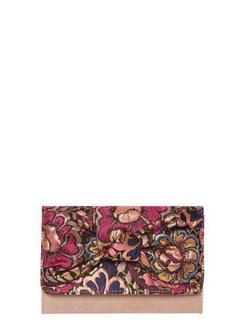 Dorothy Perkins Pink Jacquard Bow Clutch Bag