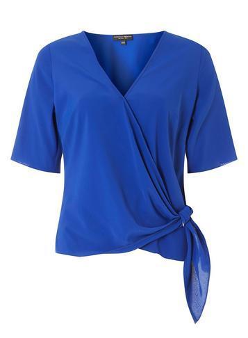 Dorothy Perkins Cobalt Ring Tie Side Top