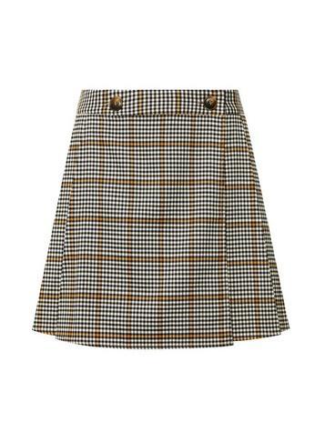 *lola Skye Multi Colour Check Print Kilt Skirt