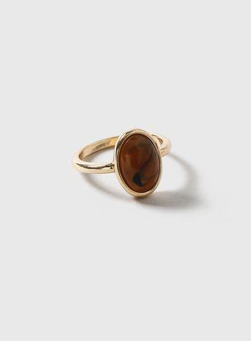 Dorothy Perkins Brown Oval Stone Ring