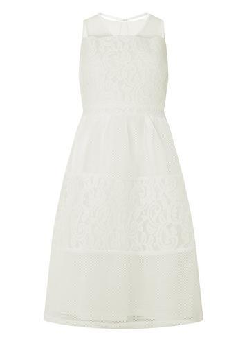 Dorothy Perkins White Lace Mix Prom Dress