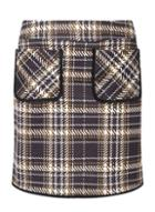 Dorothy Perkins Yellow Checked Pocket Mini Skirt