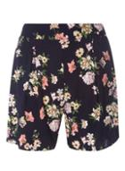 Dorothy Perkins Navy Floral Print Shorts