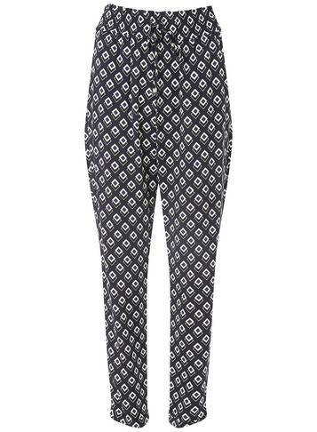 Dorothy Perkins Navy And White Geometric Print Joggers