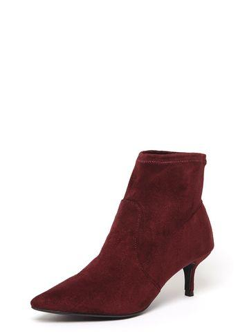 Dorothy Perkins Burgundy 'marni' Kitten Boots
