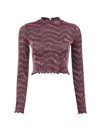 Dorothy Perkins *pink Glitter High Neck Top