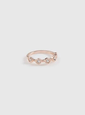 Dorothy Perkins Rose Gold Hexagon Ring