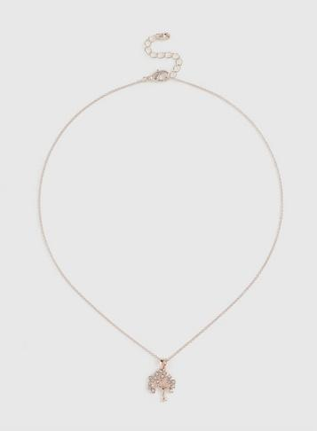 Dorothy Perkins Rose Gold Tree Of Life Necklace