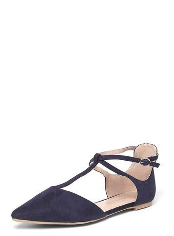 Dorothy Perkins Wide Fit Navy 'hally' Flats