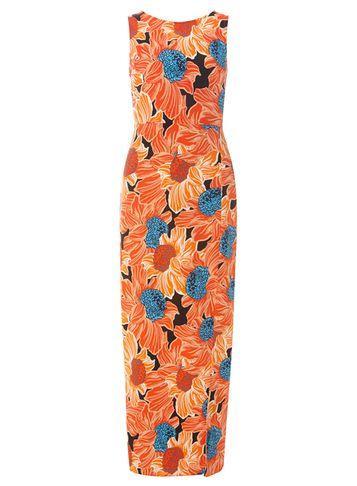 Dorothy Perkins Orange Floral Print Maxi Dress