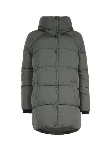 *only Green Quilted Hooded Coat
