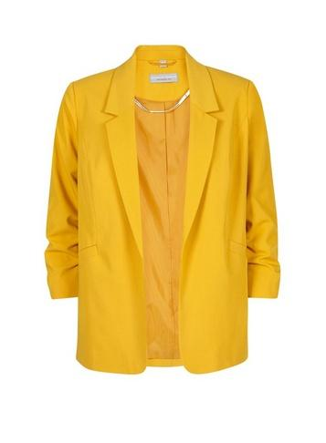 Dorothy Perkins Petite Yellow Ruched Sleeve Jacket