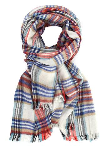 Dorothy Perkins White Oversize Check Scarf