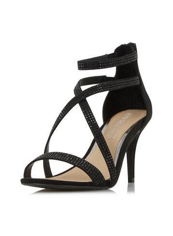 Dorothy Perkins *head Over Heels Miley Black Heeled Sandal