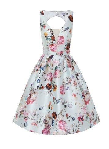 Dorothy Perkins *chi Chi London Petite Open Back Midi Dress