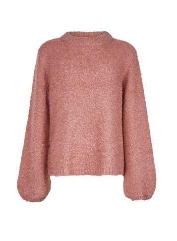 *vila Pink Knitted Funnel Neck Jumper