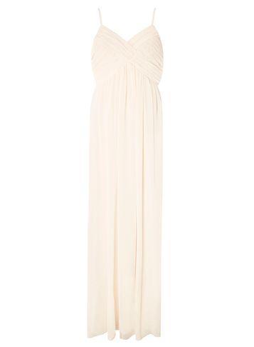 Dorothy Perkins *vila Nude Pleated Camisole Maxi Dress