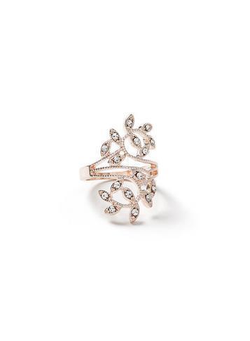 Dorothy Perkins Crystal Leaf Ring