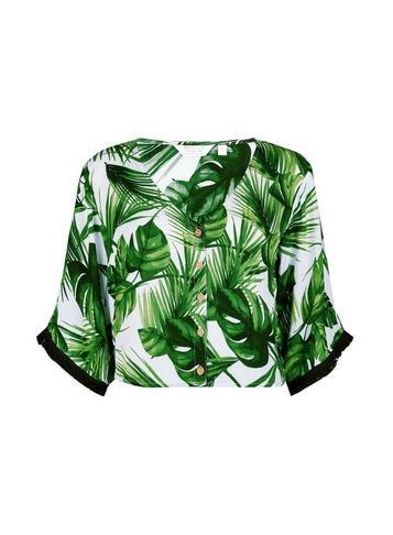 Dorothy Perkins *dp Beach Khaki Leaf Print Co-ord Top