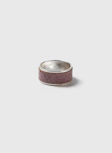 Dorothy Perkins Lilac Glitter Band Ring