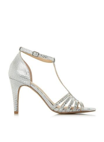Dorothy Perkins *head Over Heels By Dune Silver 'michele' Heeled Sandals