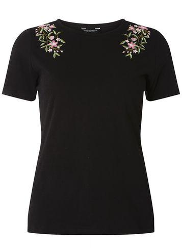 Dorothy Perkins Black Floral Embroidered T-shirt