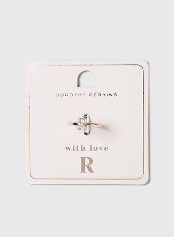 Dorothy Perkins Rose Gold Initial R Ring