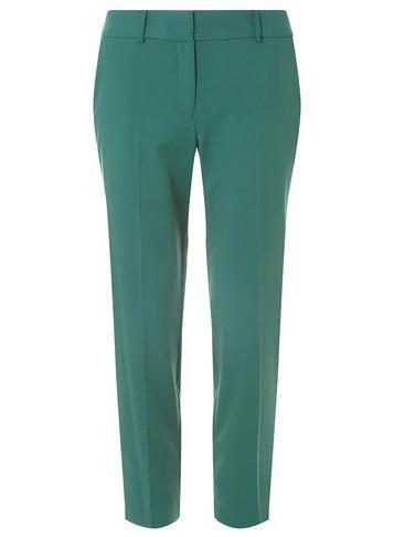 Dorothy Perkins Forest Green Split Hem Ankle Grazer Trousers