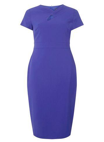 Dorothy Perkins Cobalt Twist Detail Pencil Dress