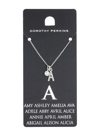 Dorothy Perkins A Initial Necklace