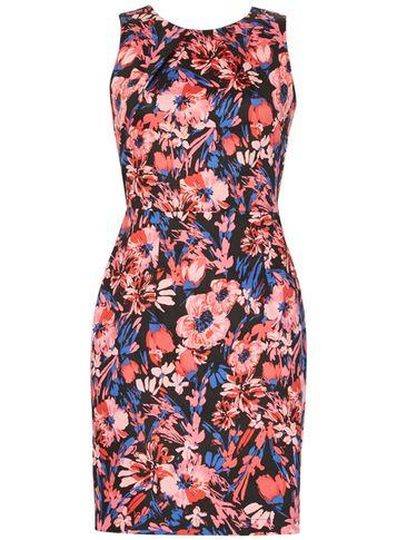 Dorothy Perkins *izabel London Red Floral Print Bodycon Dress