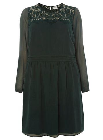 Dorothy Perkins *juna Rose Curve Green High Neck Dress