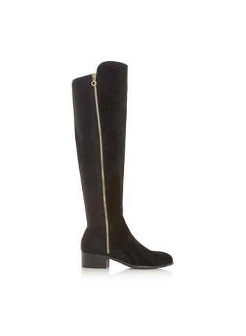 Dorothy Perkins *head Over Heels By Dune Black 'tessies' Ladies Over The Knee Boots