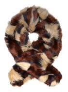 Dorothy Perkins Choc Geo Faux Fur Stole