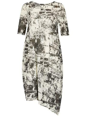 Dorothy Perkins *izabel London Monochrome Abstract Print Midi Dress