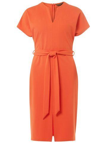 Dorothy Perkins Red V-neck Shift Dress