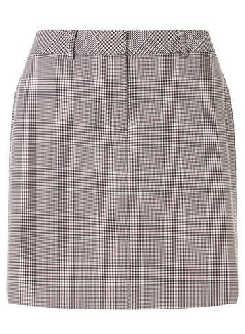 Dorothy Perkins Black And Port Checked A-line Skirt