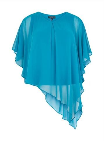 *billie & Blossom Curve Teal Overlay Top