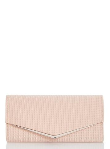 Dorothy Perkins *quiz Pink Textured Envelope Bag
