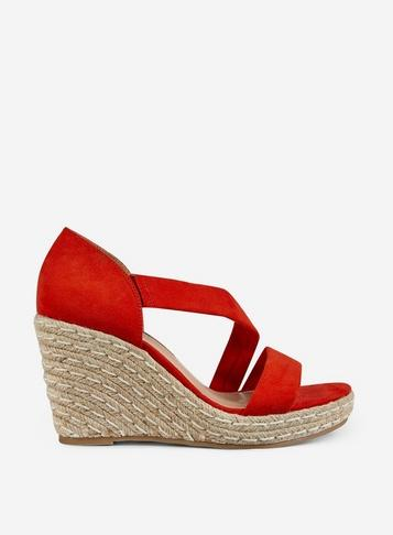 Dorothy Perkins Orange 'ravello' Asymetric Wedges
