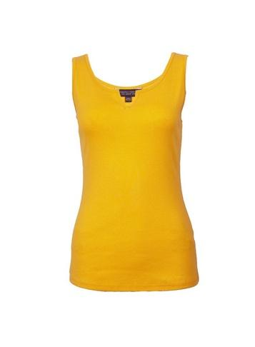 Dorothy Perkins Yellow Notch Neck Vest