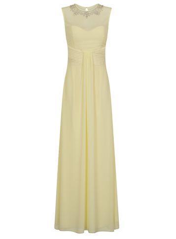 Dorothy Perkins *little Mistress Lemon Maxi Dress