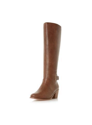 Dorothy Perkins *head Over Heels By Dune Tan Talum Heeled Boots