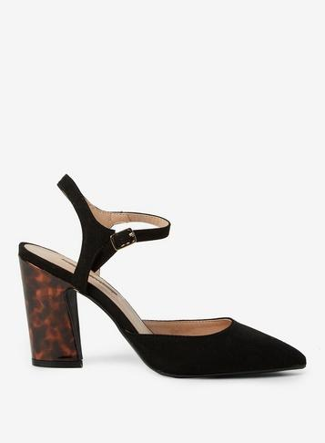 Dorothy Perkins Black Eva High Heel Court Shoes