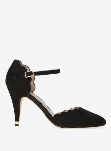 Dorothy Perkins Black Erin Microfibre Court Shoes