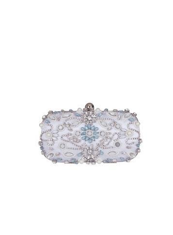 *chi Chi London White Embellished Clutch Bag