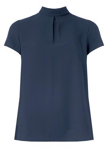 Dorothy Perkins Navy Turn Back T-shirt